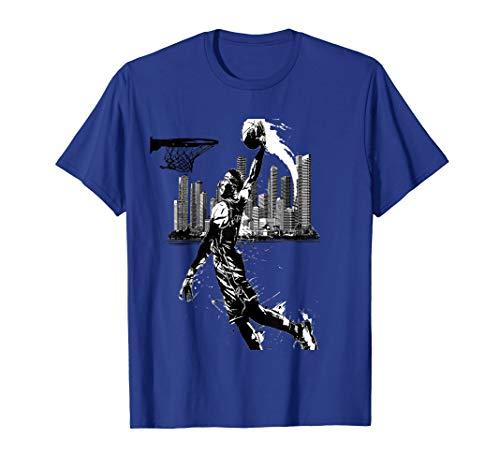 funny tshirt for men and women Basketball new york city -