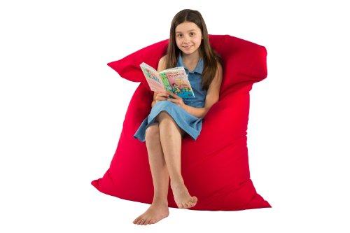 Sitzsack XXL für Kinder 100x140 cm rot mit schadstofffreier (toxproof) Perlenfüllung