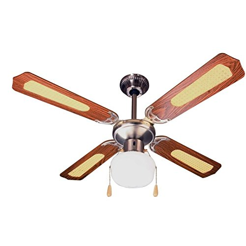 Zephir ZFS9107M Ventilatore da Soffitto Decorativo E27, 60 W, Marrone