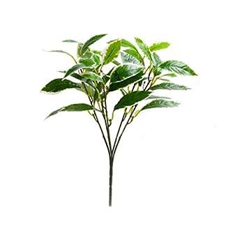 Flores artificiales de camelia falsas al aire libre, resistente a los rayos UV, verde, arbustos, plantas interiores y exteriores, maceta para colgar en el hogar, jardín, decoración