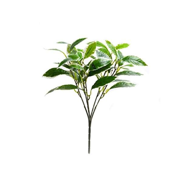 DDG EDMMS – Flor de Camelia Artificial para Interiores y Exteriores, Resistente a los Rayos UV, Plantas Verdes arbustos…