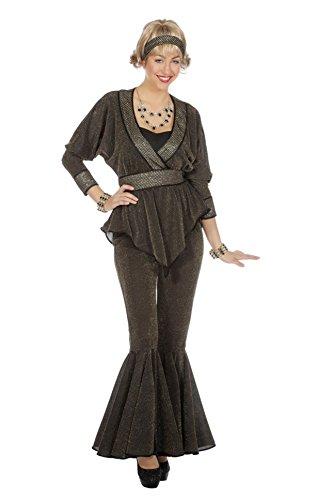 Wilbers Disco Kostüm Diva Grau Outfit Damen Damenkostüm 80er 70s Motto Karneval Fasching Grau 38