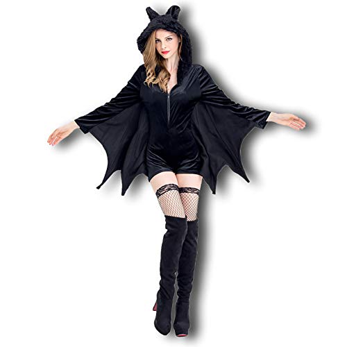 CWZJ Halloween Adult Masquerade Kostüm Black Batman Vampir Teufel Kostüm Superwoman - Vampir Batman Kostüm