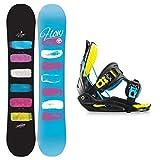 Flow Damen Snowboard Set Silhouette 140 & Haylo 2015