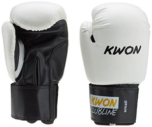 KWON Boxhandschuh Clubline Pointer Small Hand, weiß/schwarz, 8 oz, 554005808