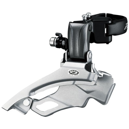 SHIMANO FD-M371 Altus 9-Speed Front derailleur, Conventional Swing, dual-Pull -