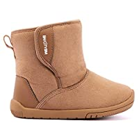BMCiTYBM Girls Boys Snow Boots Warm Winter Fur Lined Baby Shoes (Infant/Toddler/Little Kid) Brown Size: 7 Toddler