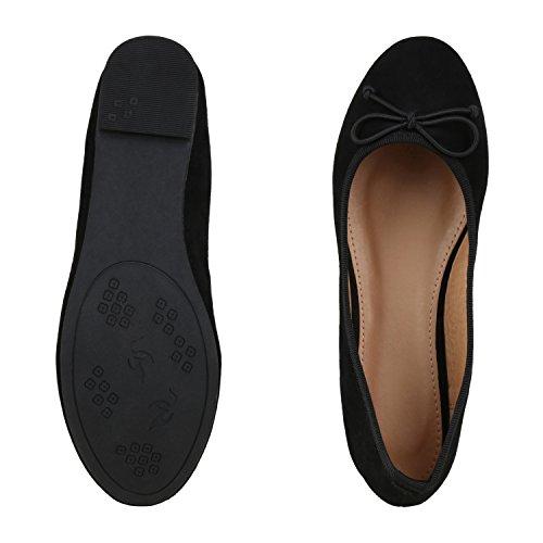 Japado Classic Womens Ballerine Flats Lace Crochet Look Leather Optical Slippers Ballerina Shoes Metallic Grind Paillettes Black Nero