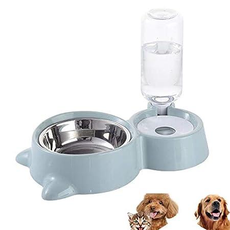 HappyCat Kleine Haustiere Wasserspender Hunde Katzen Schwerkraftwässerung Futterschale Automatischer Wassertrinkbrunnen…