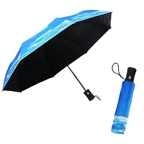 Auto Close Open Women Compact Folding Travel Sun Umbrella Rain Umbrella, WITERY Folding Sun Umbrella 50+ UV Protection Rain Resistant & Windproof Umbrella Sun / Rain Umbrella