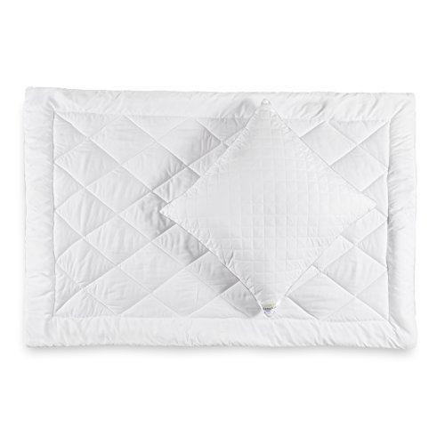 Lumaland Mikrofaser Sommer Bettwaren Set, Kopfkissen 80 x 80 cm und Bettdecke 155 x 220 cm