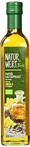 Naturwert Bio Rapsöl kaltgepresst, 500 ml