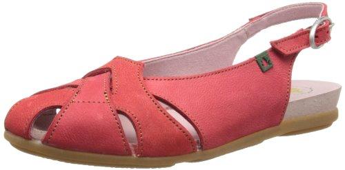 El Naturalista N031 Crust Leather Pink/ Stella, Semelles compensées femme Rouge - Grosella