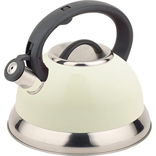 41%2Bf14TriwL. SS500  - Buckingham Whistling Kettle 3.0Ltr Cream, Stainless Steel, 22.5 x 22.5 x 22 cm