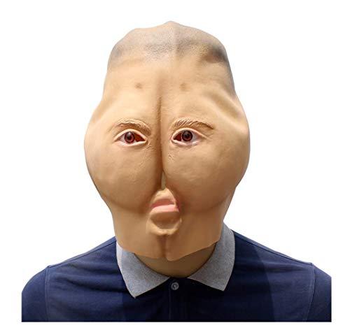 Wsjfc Latexmaske für Halloween, lustige Masken, Streichmasken Gesicht beängstigend Halloween-Kostüm-Party, geeignet für Männer und - Beängstigend Kostüm Für Hunde