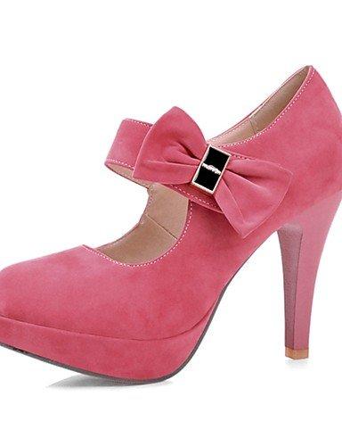WSS 2016 Chaussures Femme-Habillé / Soirée & Evénement-Noir / Rose / Violet / Amande-Talon Aiguille-Talons / Bout Arrondi-Talons-Laine synthétique pink-us5 / eu35 / uk3 / cn34