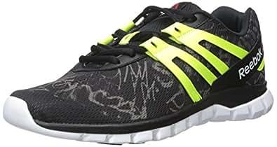Reebok Men s Sublite XT Cushion MT Running Shoe Grft - Black/Shark/Solar Yellow/White 11.5 D(M) US