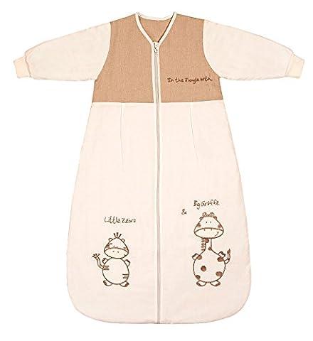 Schlummersack Baby Winter Schlafsack Langarm 3.5 Tog 90cm/6-18 Monate - Giraffe (Hello Kitty Hochstuhl)