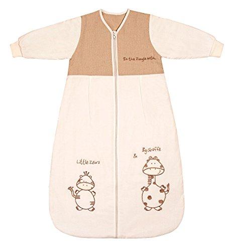 Schlummersack Baby Winter Schlafsack Langarm 3.5 Tog 90cm/6-18 Monate - Giraffe