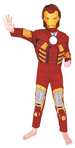 Geniales Iron ManTM-Kostüm für Kinder L (7-8 Jahre)