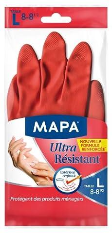 Mapa Gants de Ménage Ultra Résistant Taille 8/L Lot de 2