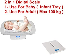 Sevia's Baby Child Weighing Scale Bathroom Baby Weighing Machine with an accuracy infant and Adult body weight upto 100kg