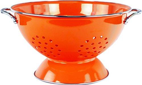 Calypso Basics by Reston Lloyd Powder Coated Enameled Colander, 5 Quart, Orange by Reston Lloyd 5 Quart Colander