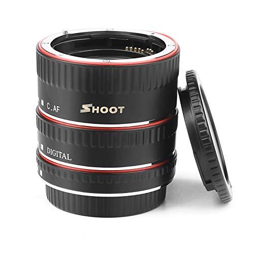 SHOOT AF Messa a fuoco automatica Macro Extension Tube Set per Canon EOS EF EF-S lente DSLR 1100D 700D 650D 600D 550D 500D 450D 400D 350D 300D 100D 70D