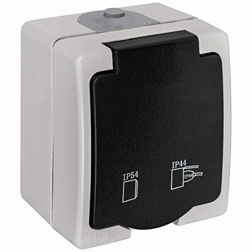 Feuchtraum-Aufputz-Steckdose IP54 16A