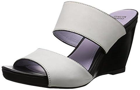 Johnston & Murphy Women's Nisha Wedge Slide Sandal, Off White, 9.5 M US