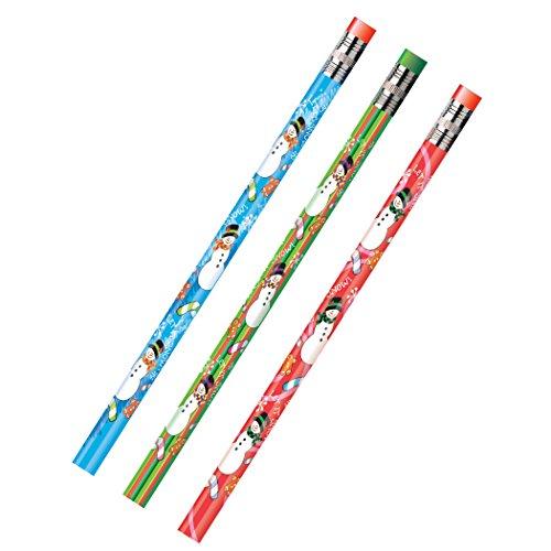 Moon-Produkte 52071B Dekoriert Holz Bleistift, Schneemann, HB Nr. 2, sortierte, Dozen