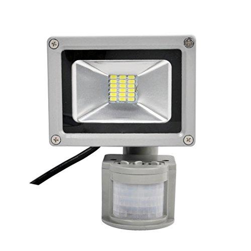 Preisvergleich Produktbild PrimLight 1X 20W SMD LED Flutlicht Strahler Fluter Außenlicht Scheinwerfer Sicherheits-Licht Energiesparendes Flutlicht mit PIR Bewegungs-Sensor Wasserdichtes IP65