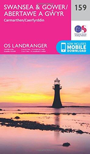 Landranger (159) Swansea & Gower, Carmarthen (OS Landranger Map)