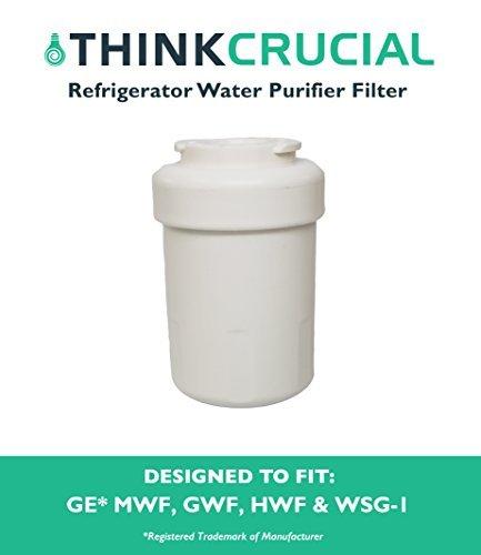 Think Crucial Wasser Luftreiniger Filter Passend für GE Kühlschrank MWF GWF-46-9991WSG-1Wasserfilter WF287eff-6013a, Entworfen und Hergestellt