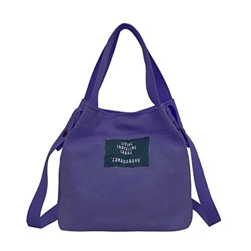 Qotone Borsa della borsa della traversa della borsa della borsa della signora blu