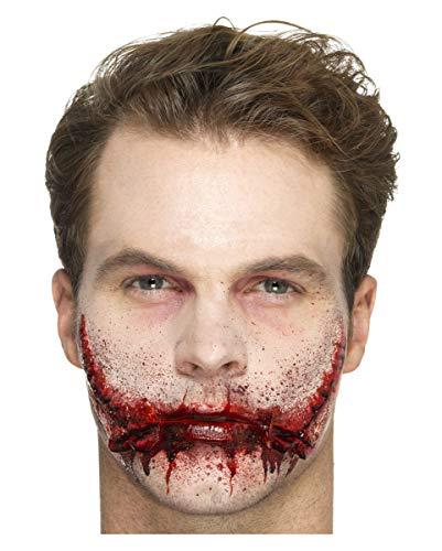 Horror-Shop Latex Applikation Grinse-Gesicht