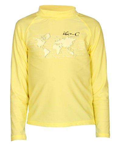 iQ-Company Kinder UV Kleidung 300 Langarm-Shirt, Yellow, Gr. 128/134