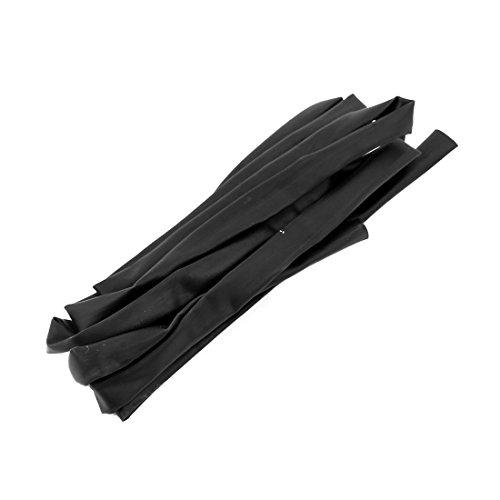 sourcing map 5mm Dia Polyoléfine 2:1 Gaine thermorét Gaine noir Tube 1,7M long