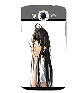PrintDhaba Dreaming Girl D-1371 Back Case Cover for SAMSUNG GALAXY MEGA 5.8 (Multi-Coloured)