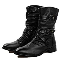 nihiug Mens Doc Martin Boots Adult Boots Classic Boots Classic Leather Autumn and Winter Men