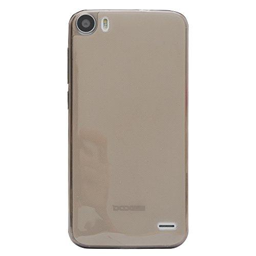Prevoa ® 丨Transparent Silikon TPU Hülle Case Schutzhülle Tasche für DOOGEE F3 F3 PRO 5.0 Zoll Smartphone - (Grau)