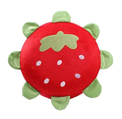 Karikatur-Plüsch-aufblasbares Hocker Tragbare Falten, Erdbeere