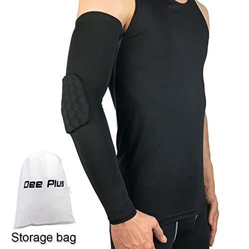 Compression Pad Protect Basketball Arm Dee Plus Combat Basketball Pad Protector Gear Shooting Hand Arm Elbow Sleeve Men,Women & Youth Arm Guard Elbow Support - Best Elbow Protection for Basketball,Football,Volleyball,Cycling,Shooting