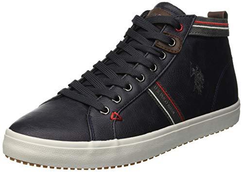 U.S. Polo Assn. Varan Sneaker a Collo Alto Uomo, Blu (Dark Blue Dk Bl) 43 EU