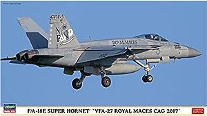 Hasegawa 002254 1/72 FA 18E Super Hornet VFA-27 Royal Maces Cag 2017 - Maqueta de plástico para maquetas de ferrocarril, Hobby