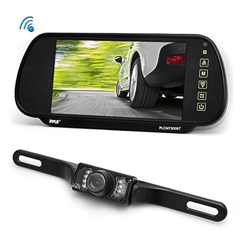 Pyle TFT-Monitor (17,8 cm (7 Zoll) und Spiegelrückansicht Nachtsicht-Kamera mit Bluetooth