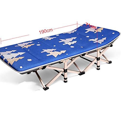 YWZDY Liegen Folding Campingbett Sonnenliege Krippe tragbares Bett 1200D Stoff Starkes stabiles Gewicht kann 300 kg Camping, Reisen und Freizeit zu Hause tragen (Color : D) (Krippe Kopfstütze)