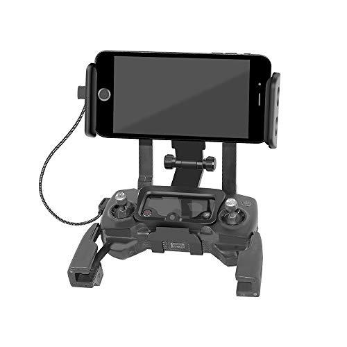 RC GearPro Faltbare 4,6-11 Zoll Telefon / Tablet Erweiterte Front Halter Adapter für DJI Mavic 2 Pro & Spark Drone Fernbedienung, kostenloser Umhängeband - Front Halter
