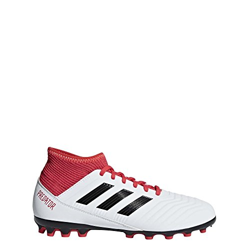 Adidas Predator 18.3 AG J, Botas de Fútbol Unisex Niño, Blanco (Ftwbla/Negbas/Correa 000), 37 1/3 EU