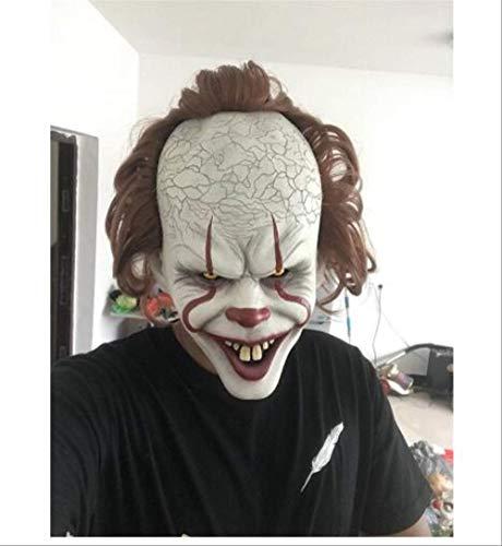 Wbdd Máscara Stephen King It Máscara Pennywise Horror Clown Joker Máscara Payaso Máscara Halloween Cosplay Traje Props